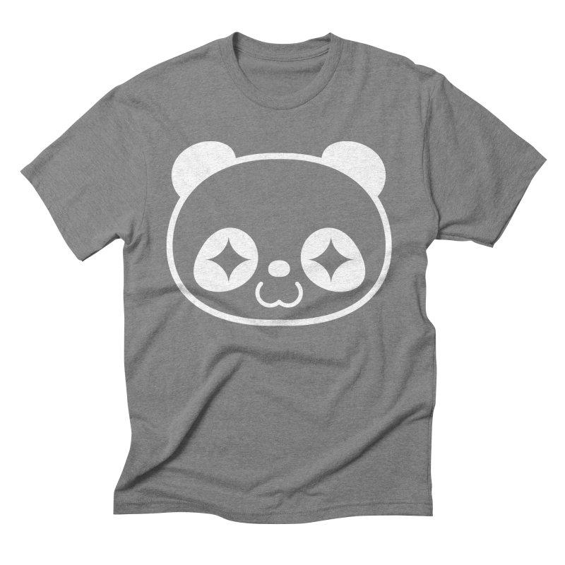 PANDA HEAD white Men's Triblend T-Shirt by WHADDUPANDA BODEGA
