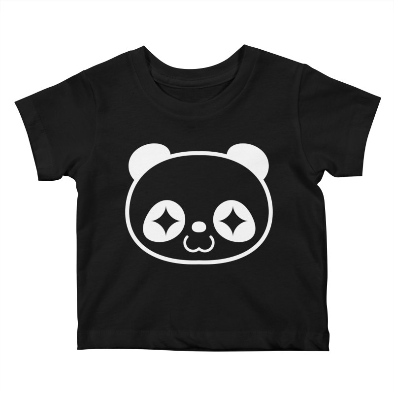 PANDA HEAD white Kids Baby T-Shirt by WHADDUPANDA BODEGA