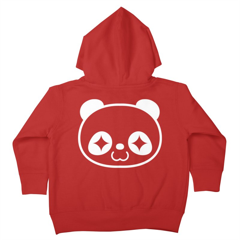 PANDA HEAD white Kids Toddler Zip-Up Hoody by WHADDUPANDA BODEGA