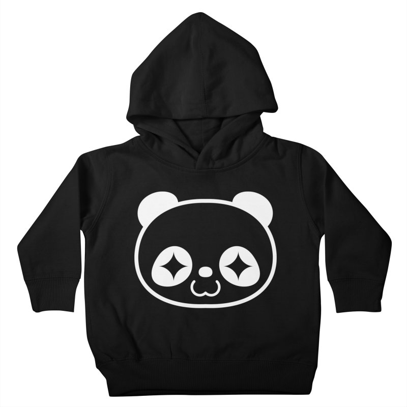 PANDA HEAD white Kids Toddler Pullover Hoody by WHADDUPANDA BODEGA