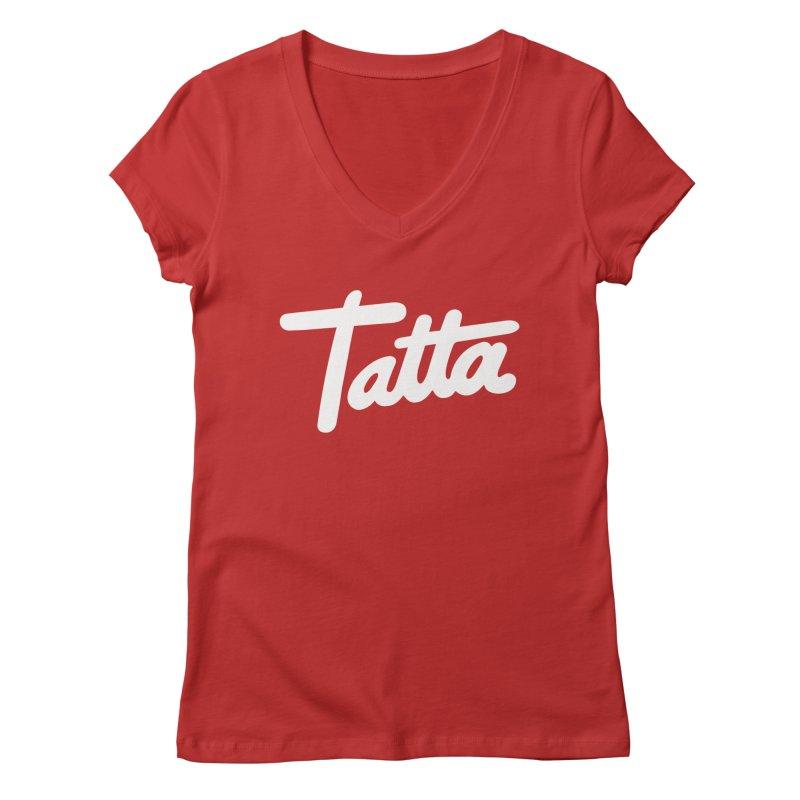 Tatta Women's V-Neck by WHADDUPANDA BODEGA