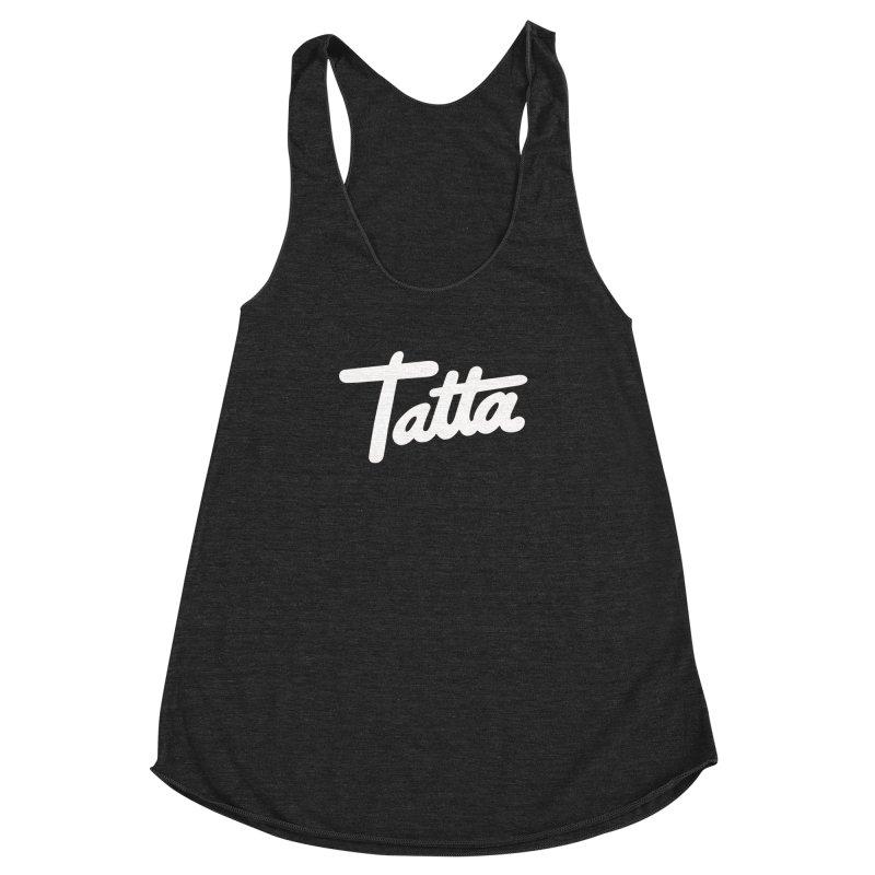 Tatta Women's Racerback Triblend Tank by WHADDUPANDA BODEGA