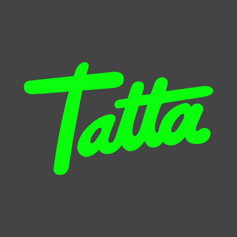 Tatta neon green by WHADDUPANDA BODEGA