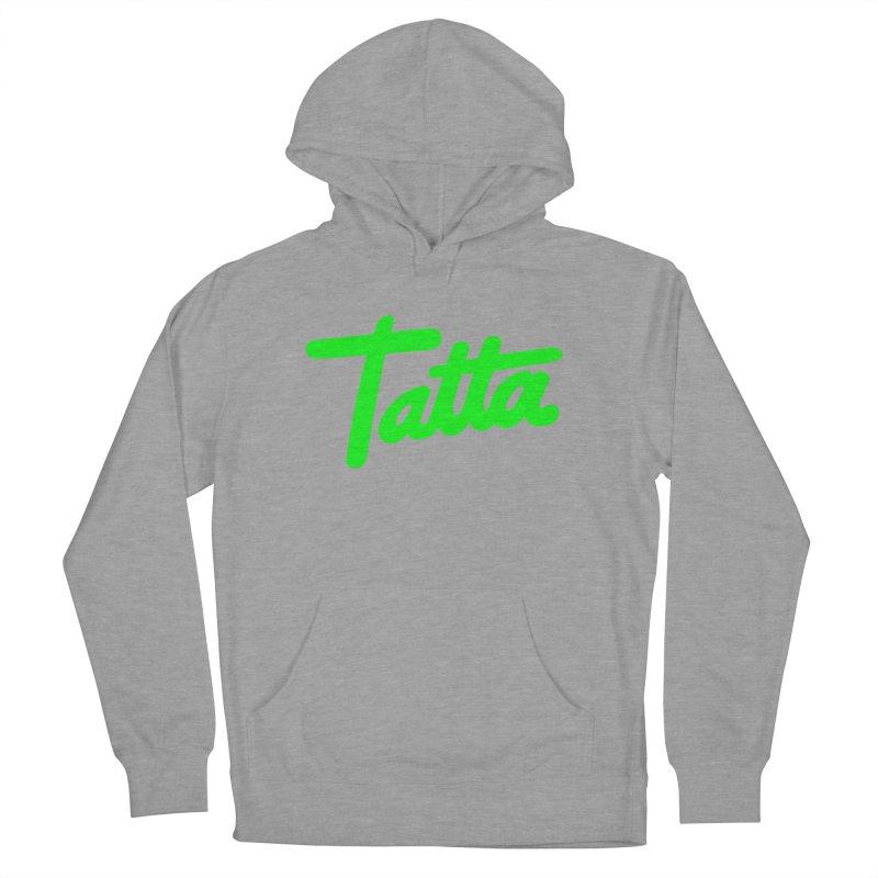 Tatta neon green Men's Pullover Hoody by WHADDUPANDA BODEGA