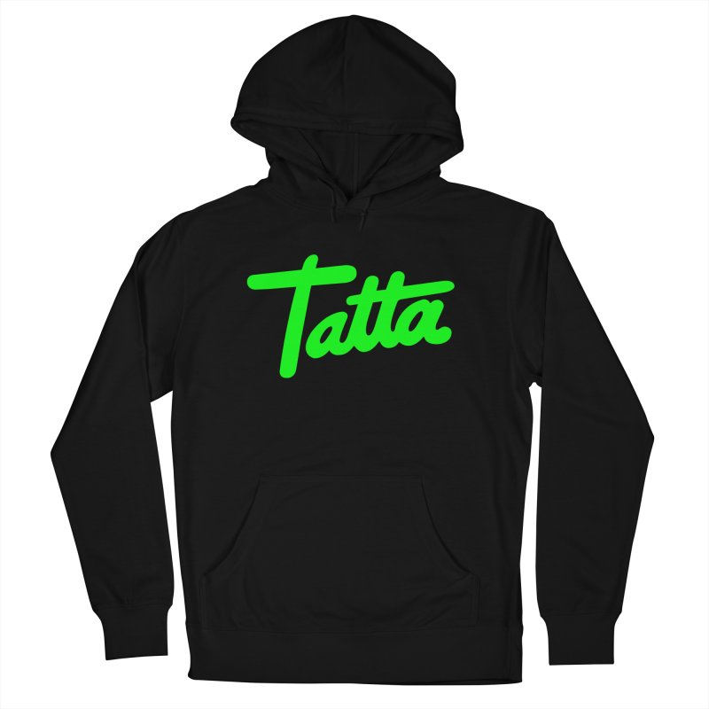 Tatta neon green Men's Pullover Hoody by WHADDUPANDA BODEGA