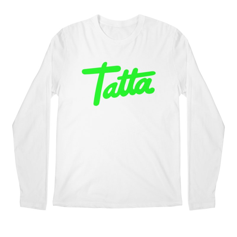 Tatta neon green Men's Longsleeve T-Shirt by WHADDUPANDA BODEGA