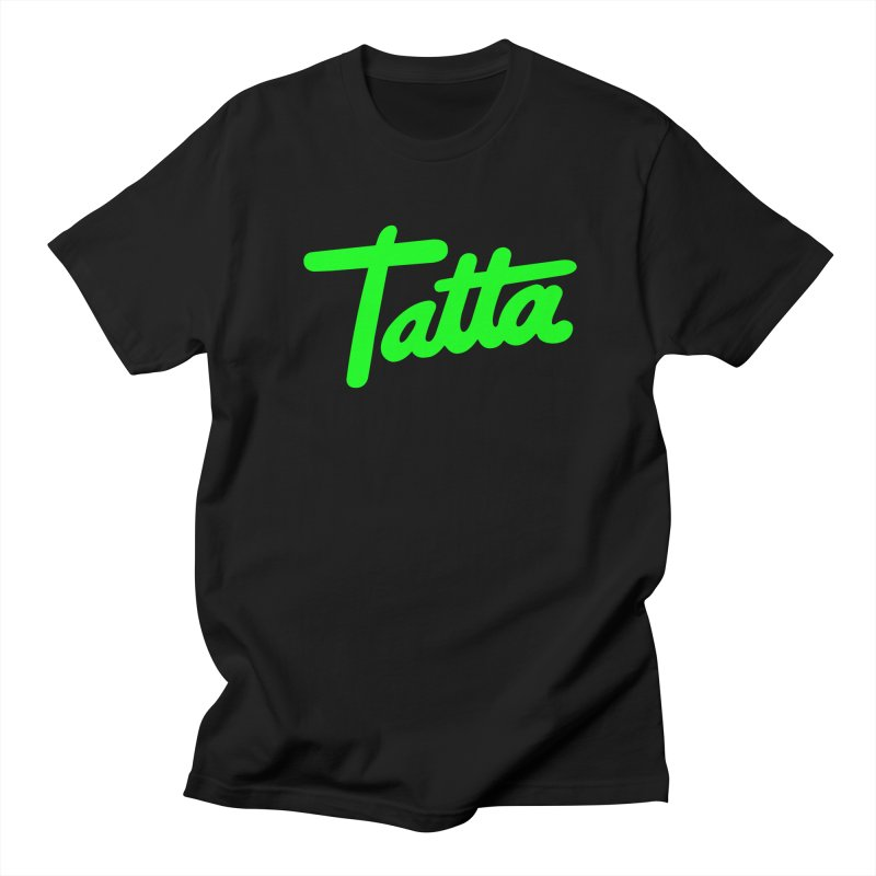 Tatta neon green Men's T-Shirt by WHADDUPANDA BODEGA
