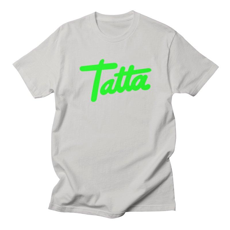 Tatta neon green Women's Unisex T-Shirt by WHADDUPANDA BODEGA