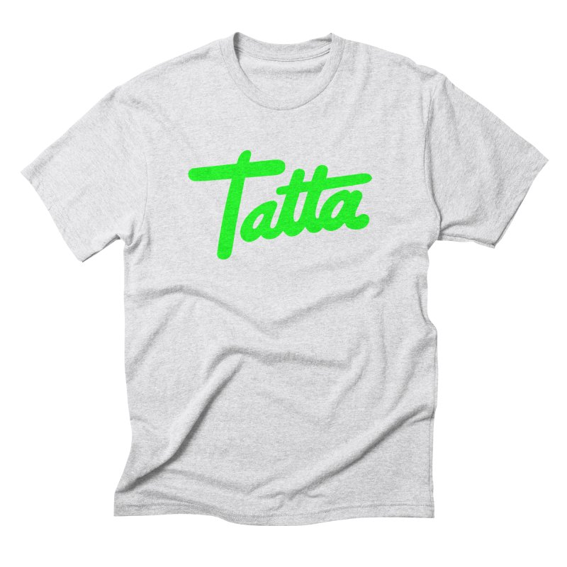 Tatta neon green Men's Triblend T-shirt by WHADDUPANDA BODEGA