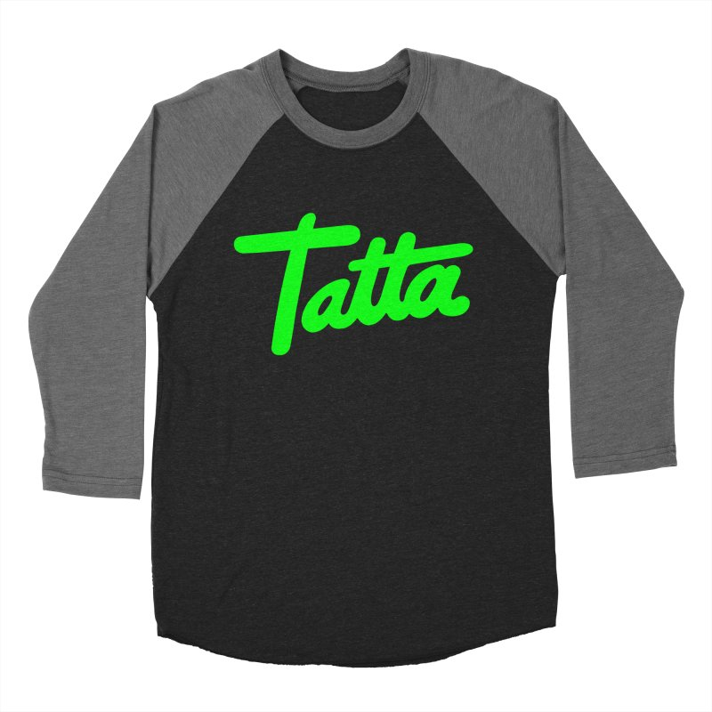 Tatta neon green Men's Baseball Triblend T-Shirt by WHADDUPANDA BODEGA