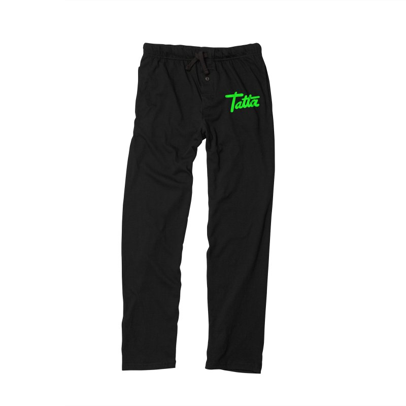 Tatta neon green Women's Lounge Pants by WHADDUPANDA BODEGA
