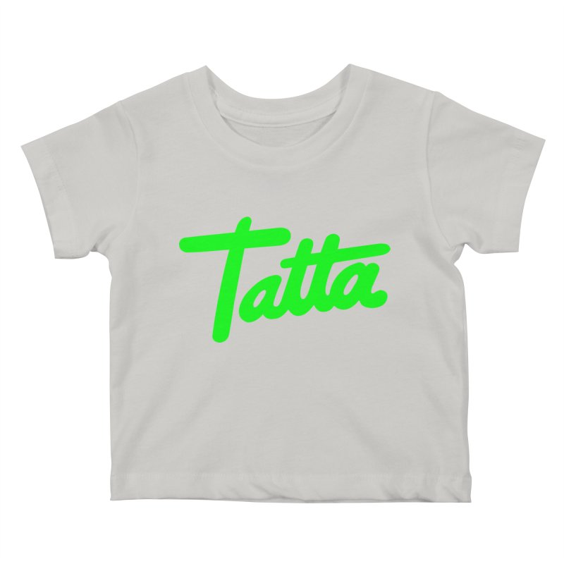 Tatta neon green Kids Baby T-Shirt by WHADDUPANDA BODEGA