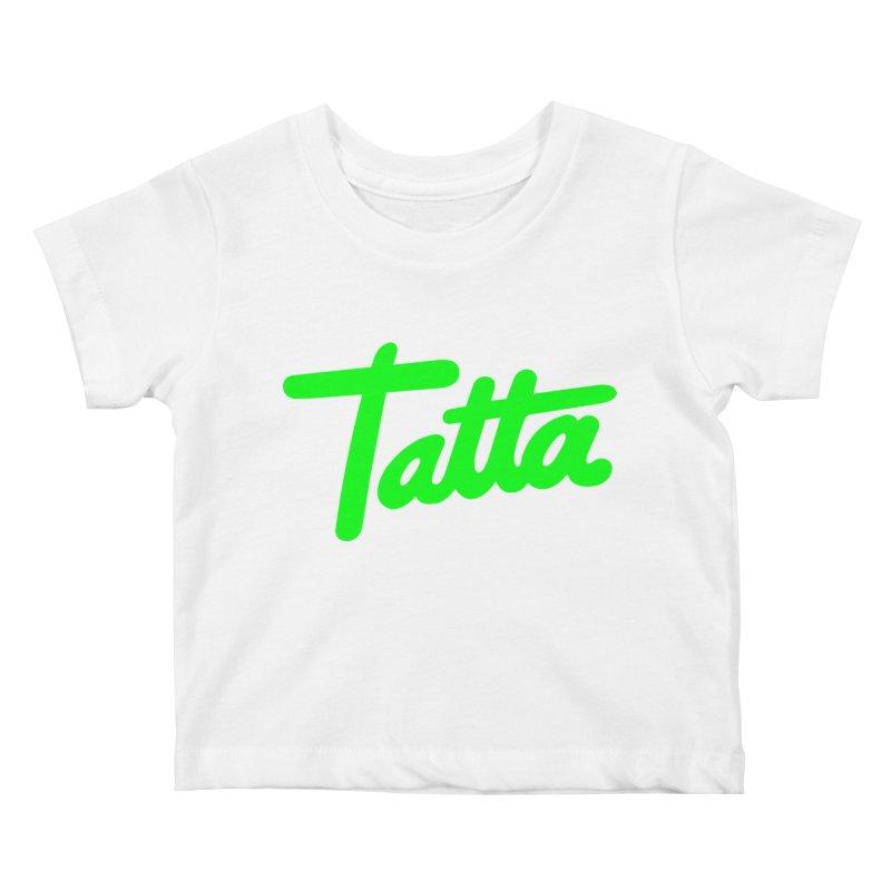 Tatta neon green Kids Baby T-Shirt by WHADDUPANDA BODEGA