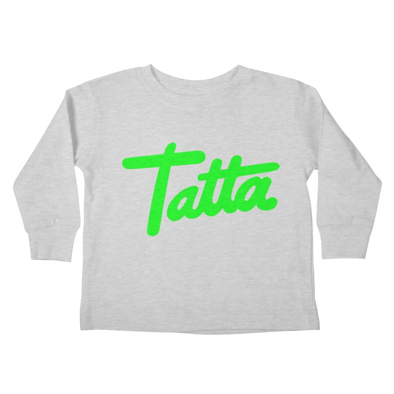 Tatta neon green Kids Toddler Longsleeve T-Shirt by WHADDUPANDA BODEGA