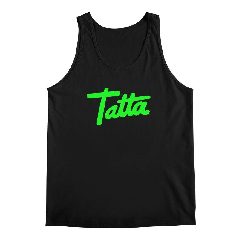 Tatta neon green Men's Tank by WHADDUPANDA BODEGA