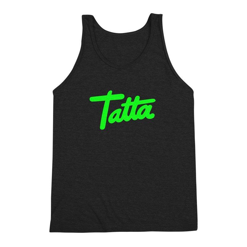 Tatta neon green Men's Triblend Tank by WHADDUPANDA BODEGA