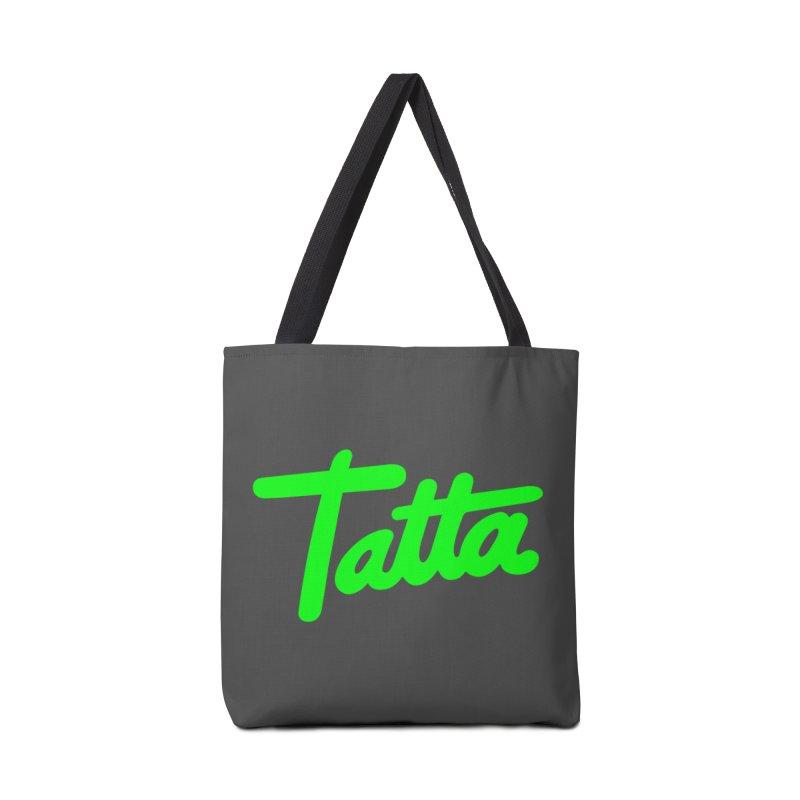 Tatta neon green Accessories Bag by WHADDUPANDA BODEGA