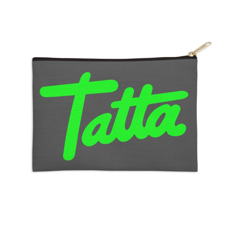 Tatta neon green Accessories Zip Pouch by WHADDUPANDA BODEGA