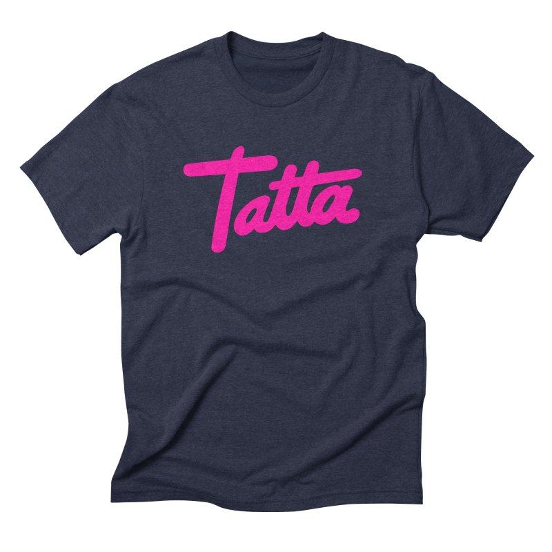 Tatta pink Men's Triblend T-Shirt by WHADDUPANDA BODEGA