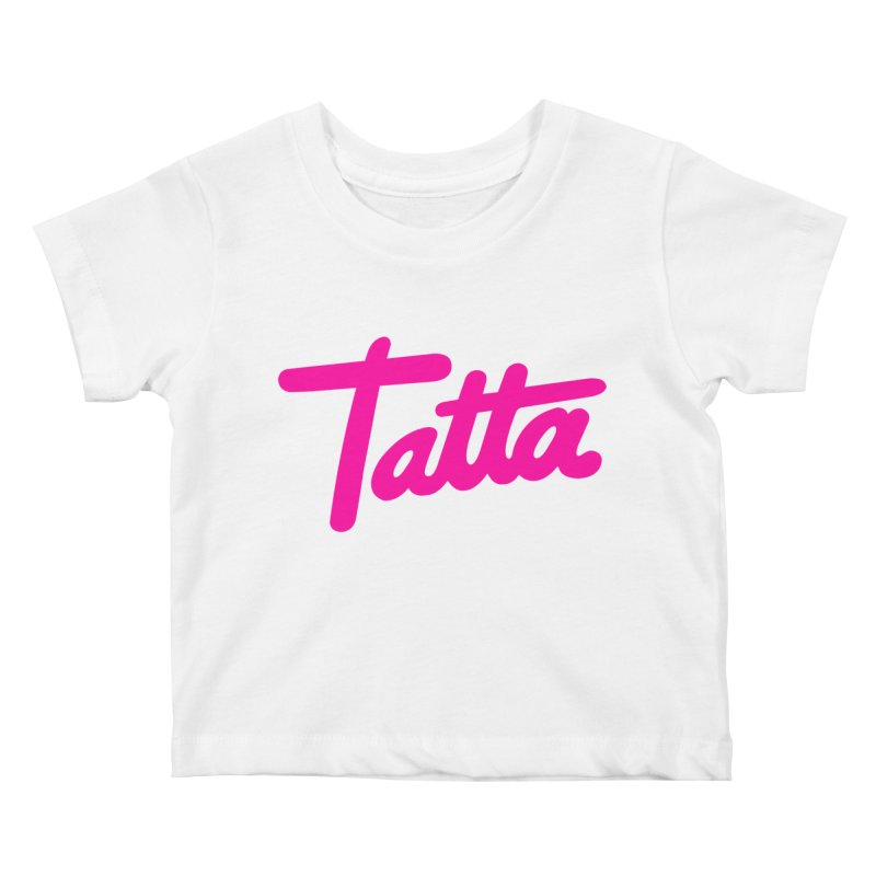 Tatta pink Kids Baby T-Shirt by WHADDUPANDA BODEGA