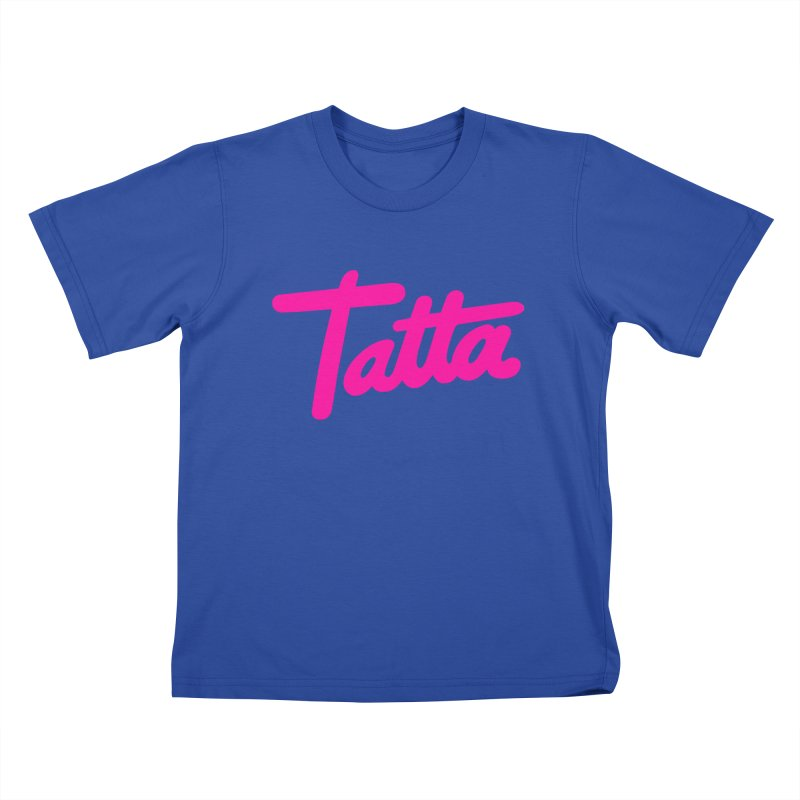 Tatta pink Kids T-Shirt by WHADDUPANDA BODEGA