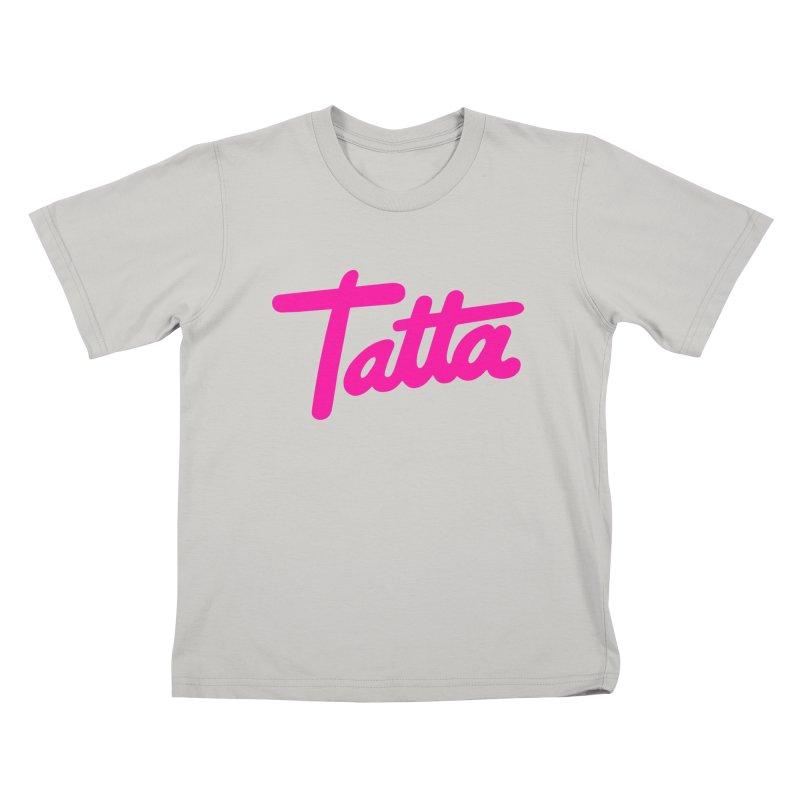 Tatta pink Kids T-Shirt by WHADDUPANDA BODEGA