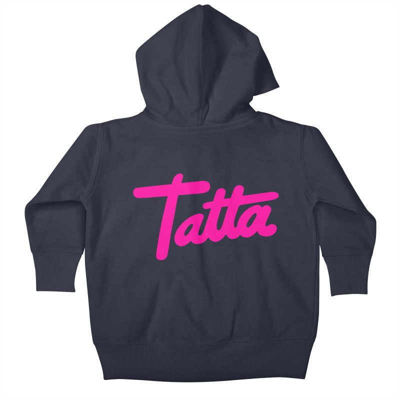 Tatta pink Kids Baby Zip-Up Hoody by WHADDUPANDA BODEGA