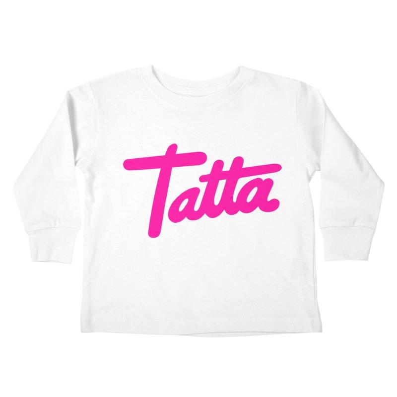 Tatta pink Kids Toddler Longsleeve T-Shirt by WHADDUPANDA BODEGA