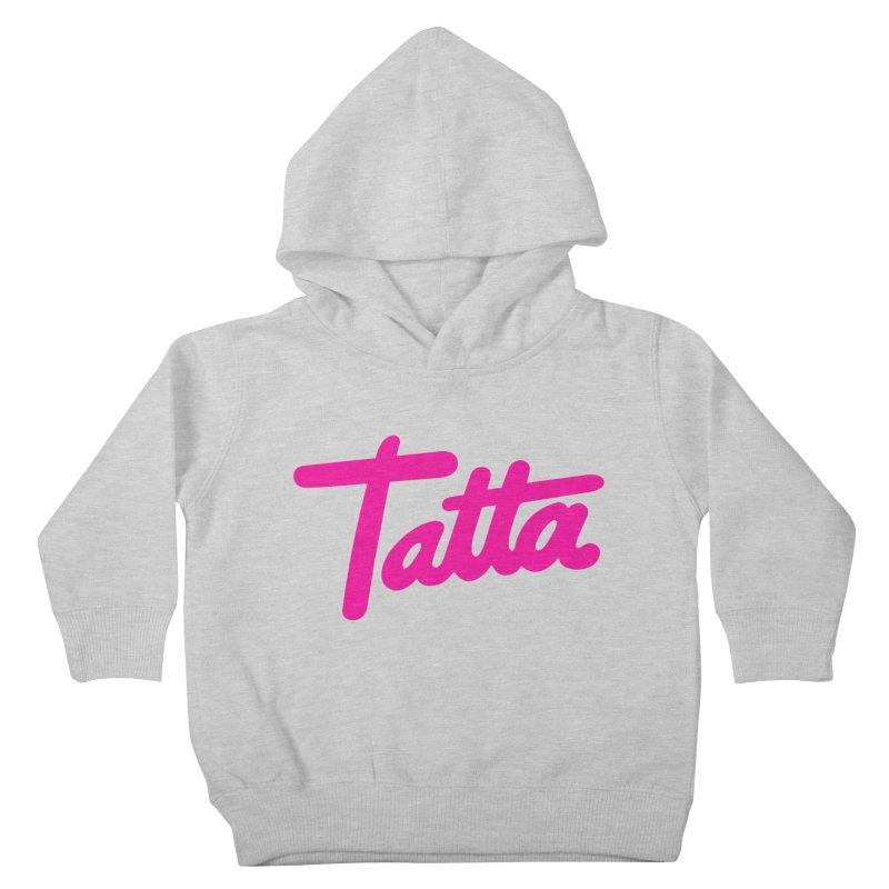 Tatta pink Kids Toddler Pullover Hoody by WHADDUPANDA BODEGA