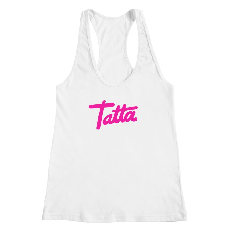 Tatta pink Women's Racerback Tank by WHADDUPANDA BODEGA