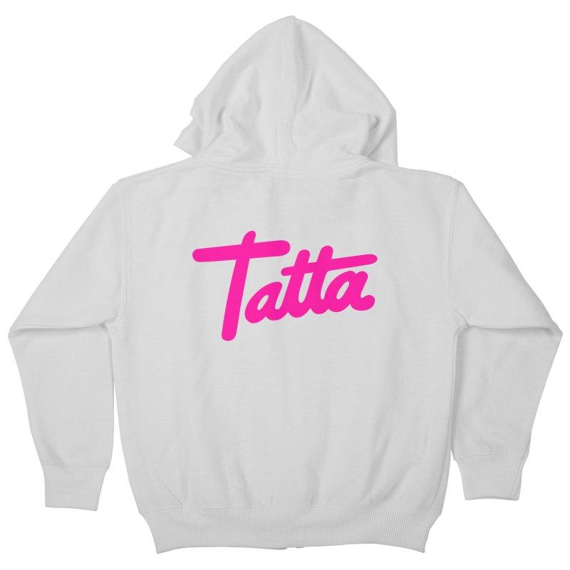 Tatta pink Kids Zip-Up Hoody by WHADDUPANDA BODEGA