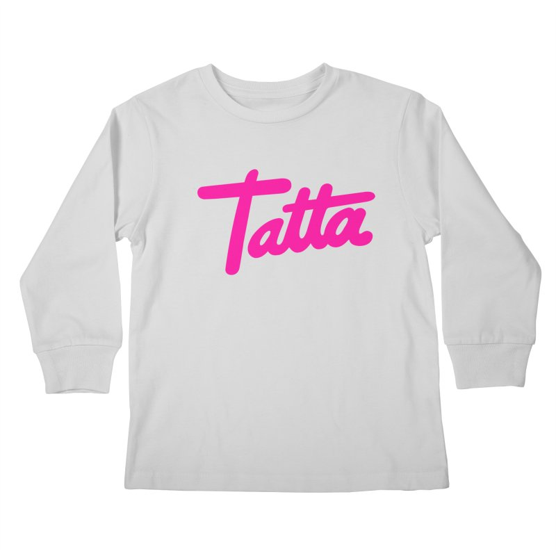 Tatta pink Kids Longsleeve T-Shirt by WHADDUPANDA BODEGA