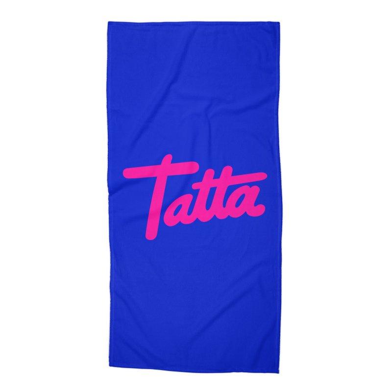 Tatta pink Accessories Beach Towel by WHADDUPANDA BODEGA