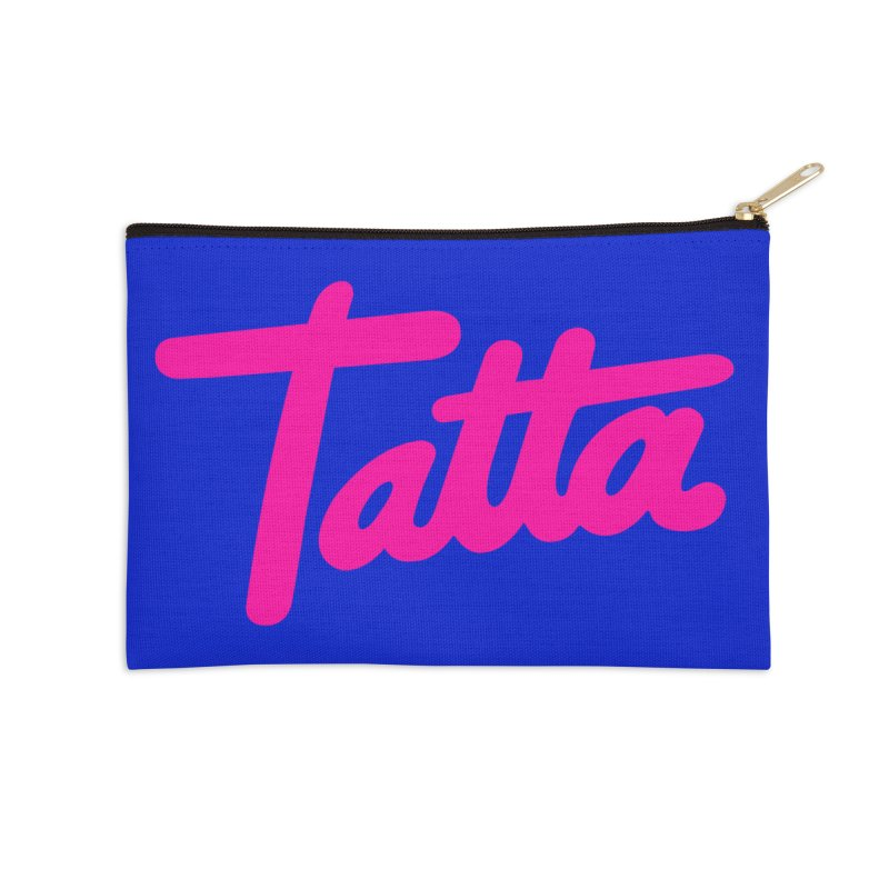 Tatta pink Accessories Zip Pouch by WHADDUPANDA BODEGA