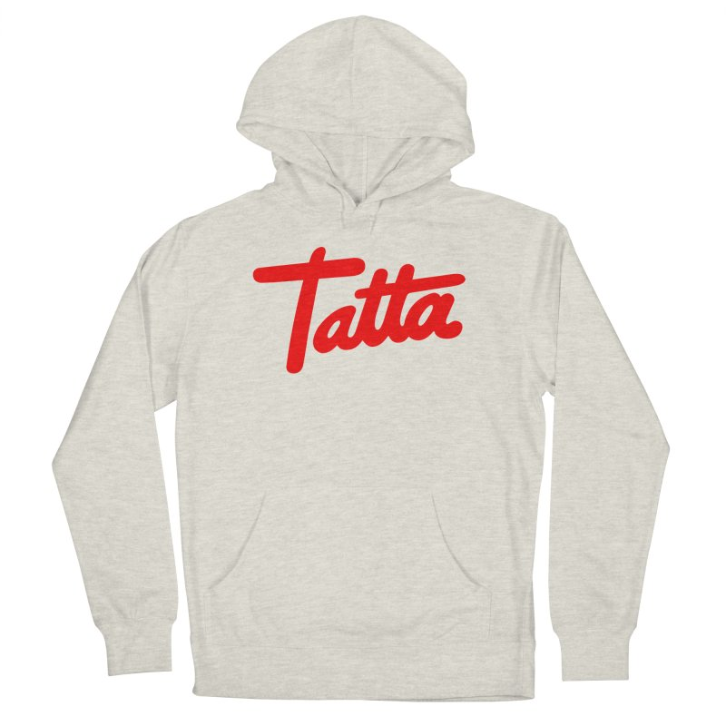 Tatta red Women's Pullover Hoody by WHADDUPANDA BODEGA