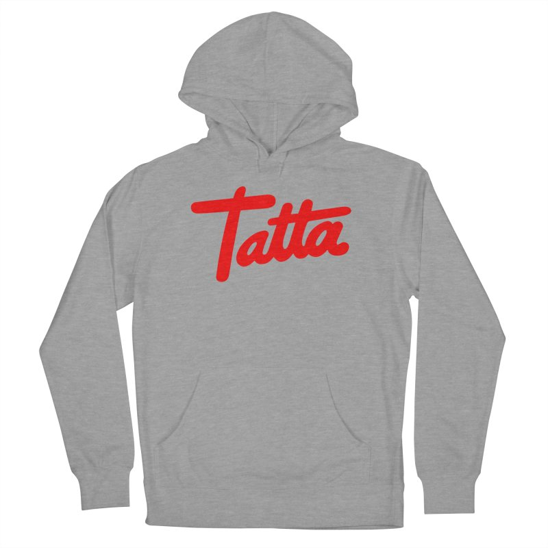 Tatta red Men's Pullover Hoody by WHADDUPANDA BODEGA