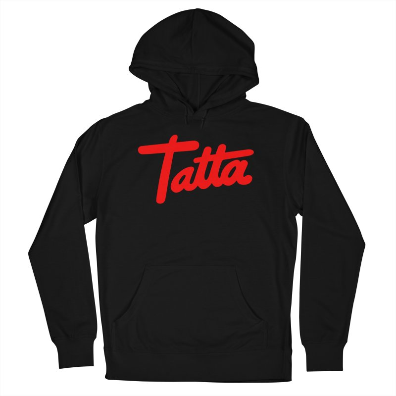 Tatta red Men's Pullover Hoody by WHADDUPANDA BODEGA