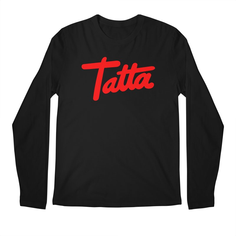Tatta red Men's Longsleeve T-Shirt by WHADDUPANDA BODEGA