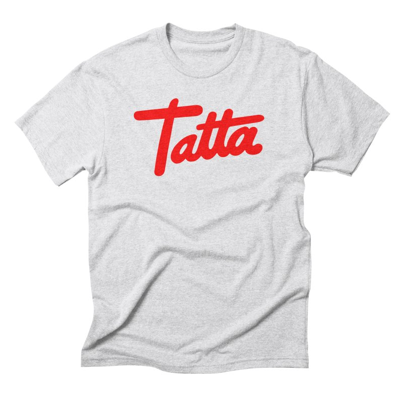 Tatta red Men's Triblend T-shirt by WHADDUPANDA BODEGA
