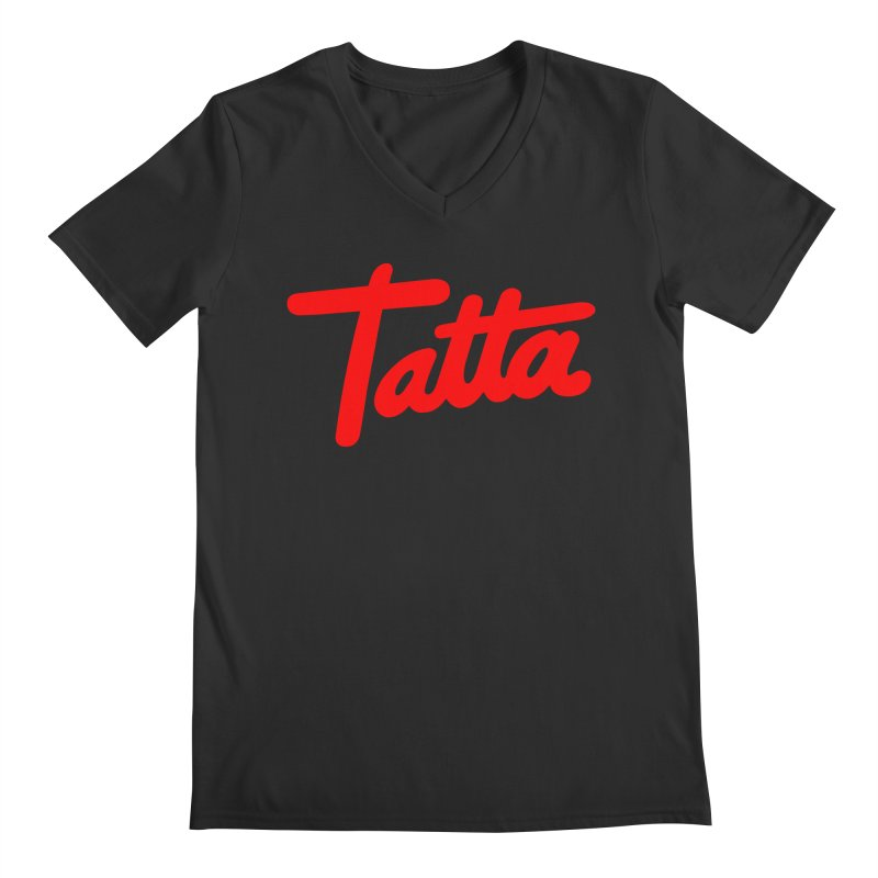 Tatta red Men's V-Neck by WHADDUPANDA BODEGA