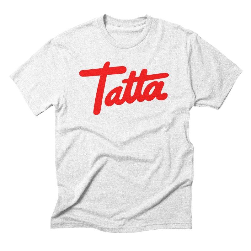 Tatta red Men's Triblend T-shirt by WHADDUPANDA BODEGA