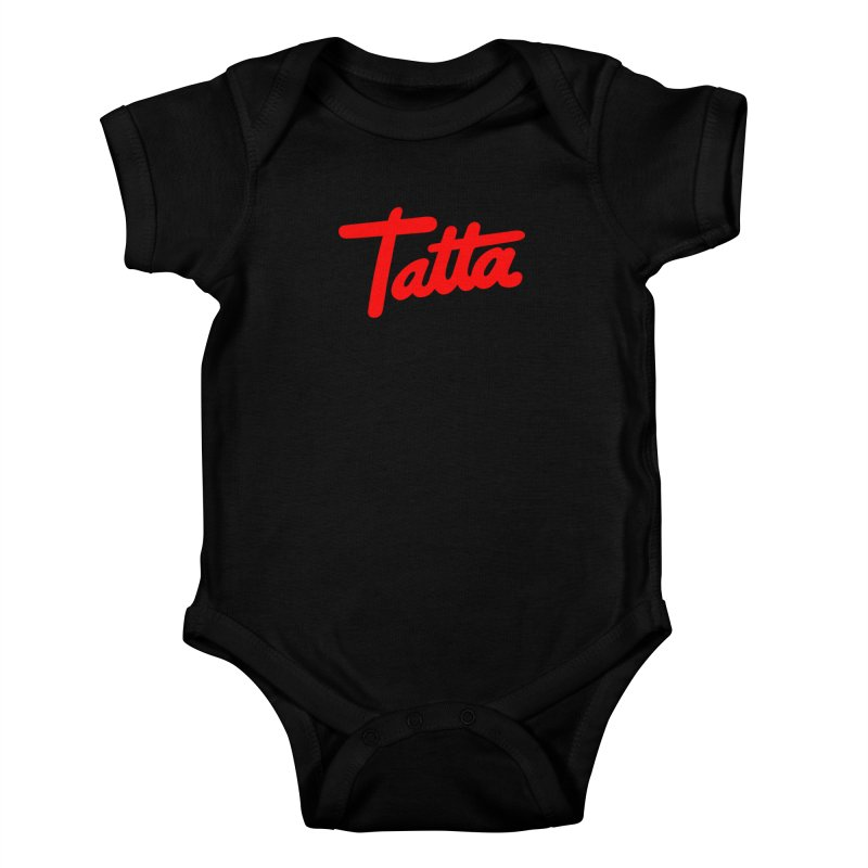 Tatta red Kids Baby Bodysuit by WHADDUPANDA BODEGA