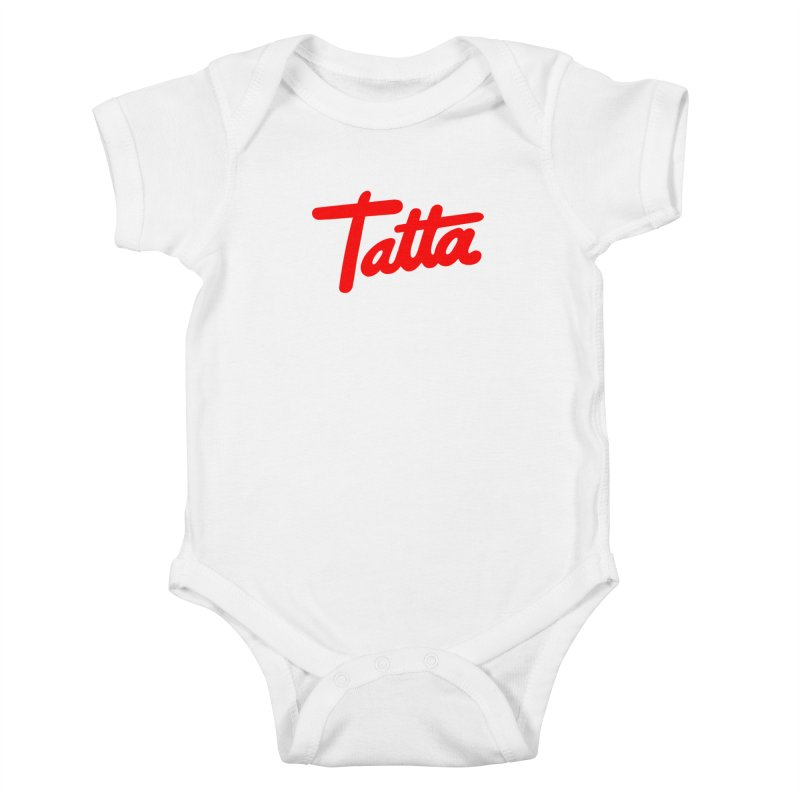 Tatta red Kids Baby Bodysuit by WHADDUPANDA BODEGA