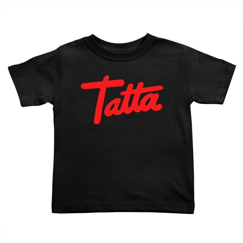 Tatta red Kids Toddler T-Shirt by WHADDUPANDA BODEGA