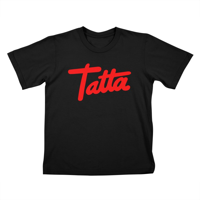Tatta red Kids T-Shirt by WHADDUPANDA BODEGA