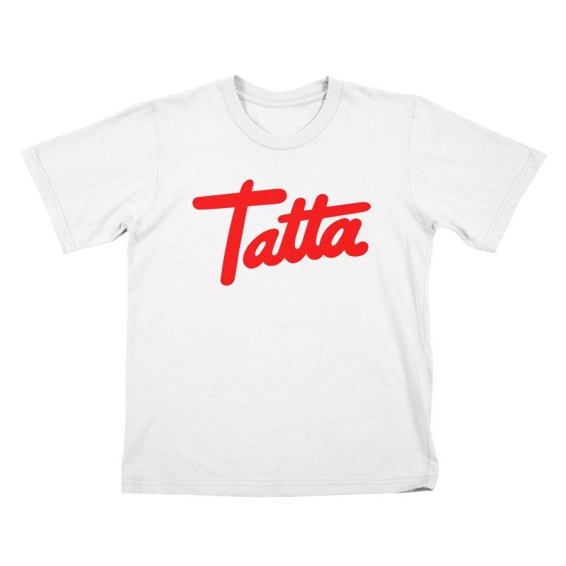 Tatta red Kids T-Shirt by WHADDUPANDA BODEGA