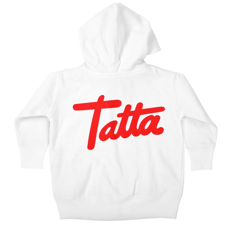 Tatta red Kids Baby Zip-Up Hoody by WHADDUPANDA BODEGA