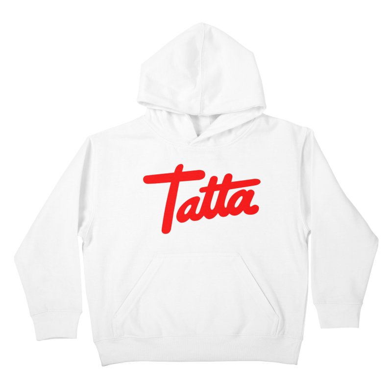 Tatta red Kids Pullover Hoody by WHADDUPANDA BODEGA