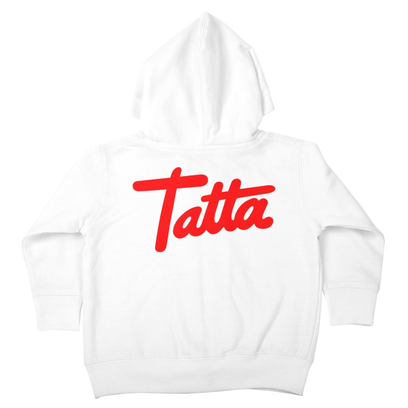 Tatta red Kids Toddler Zip-Up Hoody by WHADDUPANDA BODEGA