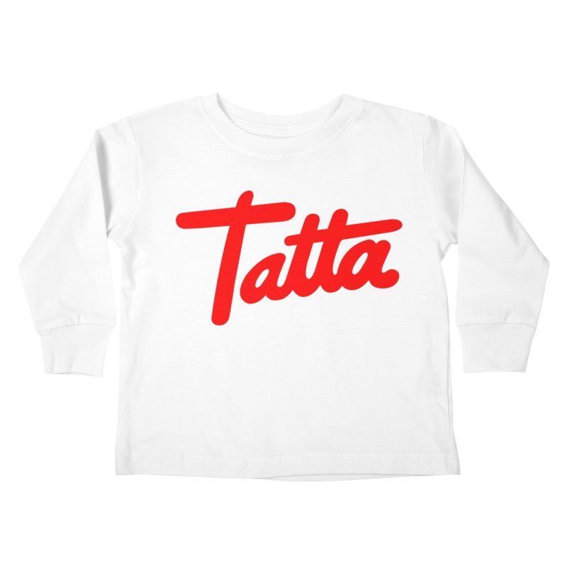 Tatta red Kids Toddler Longsleeve T-Shirt by WHADDUPANDA BODEGA